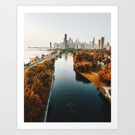 chicago aerial view Kunstdrucke