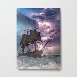 Sail under Velvet Thunder Metal Print