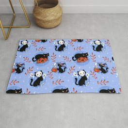 HALLOWEEN CATS PATTERN Rug