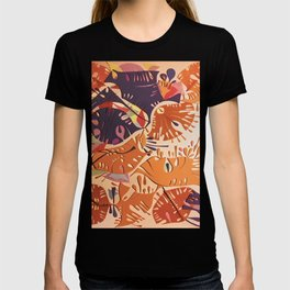 Jubilation- Colorful Abstract Collage T-shirt