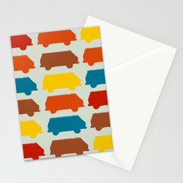 Retro Camper Van Repeating Image Pattern Pop-Art Stationery Cards