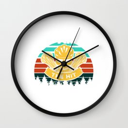 I'm The Hit You Never Saw Coming - Lacrosse Design Wall Clock