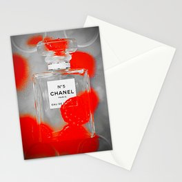 No 5 Red Splash Stationery Cards