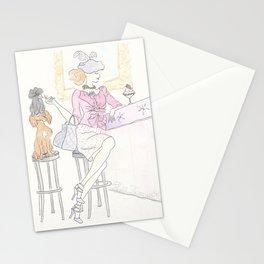 Double Decker Sundae with Irish Setter, Black Cat and Vintage Fashion Stationery Cards