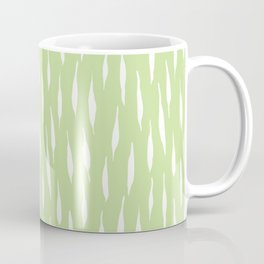 Muted green rainy abstract brushstrokes Coffee Mug