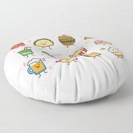 Food Doodle Floor Pillow