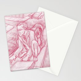 Red Monkey Man Stationery Cards