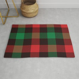 scotish red green pattern Rug