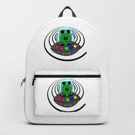 Cute Alien in a Spaceship Backpack