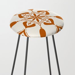Terracotta Talavera Tile Counter Stool