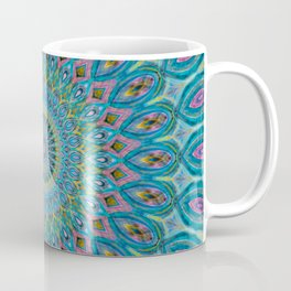 Blue Bubblegum Mandala  Coffee Mug
