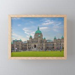 British Columbia Parliament Framed Mini Art Print