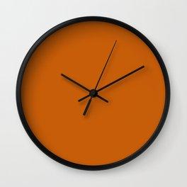 Simply Solid - Squash Orange Wall Clock
