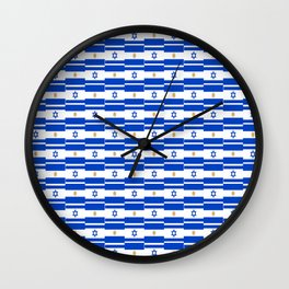 Mix of flag: Israel and Argentina Wall Clock