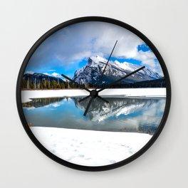 Banff-Canada-Rockie mountains Wall Clock