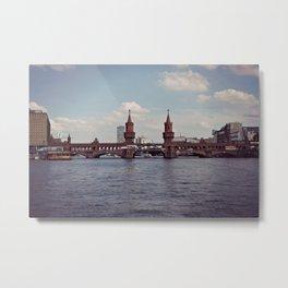 Berlin-Oberbaum Bridge Metal Print