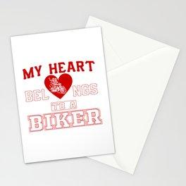 My heart belongs to a Biker Stationery Cards
