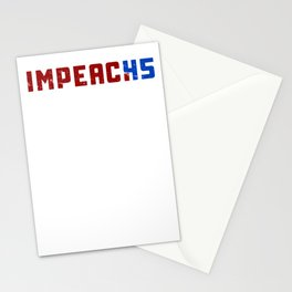 Impeach 45 Trump President impeachment Distressed Stationery Cards