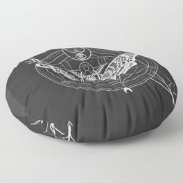 Witch Craft White Floor Pillow
