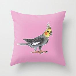 Cockatiel bird Throw Pillow
