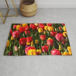 Peace, Love And Tulips Rug