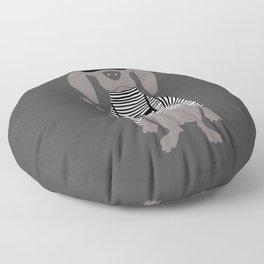 Weim Crime Grey Ghost Weimaraner Dog Hand-painted Pet Drawing Floor Pillow