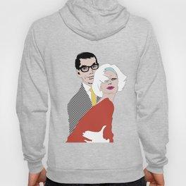 Mid century trendy couple Hoody