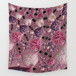 Pink Fractal Wall Tapestry