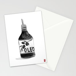 Olive Oil Bottle Stationery Cards