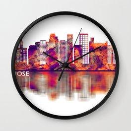 San Jose California Skyline Wall Clock