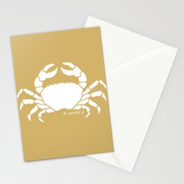 Crab Butter Yellow Background Stationery Cards