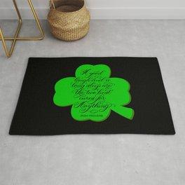St. Patrick's Day Shamrock Irish Proverb Rug