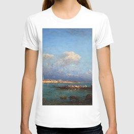 View of Hagia Sophia & Constantinople from the Marmara Sea maritime coastal landscape by Felix Ziem T-shirt