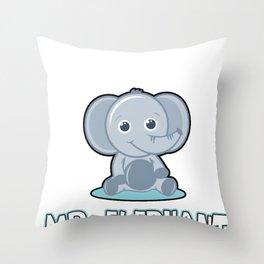 Elephant Giant Forest Boar Big Mammal Animal  Gift Throw Pillow