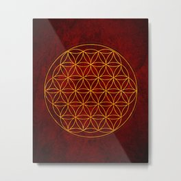 Flower of Life Collection Metal Print