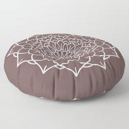WHITE MANDALA Floor Pillow