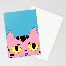Alien Cat High Five Hello Pop Art Stationery Cards