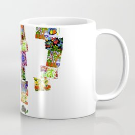 A Music Note Collaboration Of Art Collage Coffee Mug