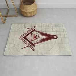 Freemason Symbolism Rug