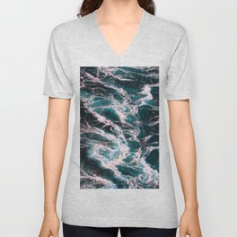 Sea And Ocean Waves 7 Unisex V-Neck
