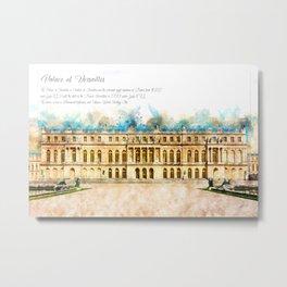 Versailles, Aquarell Metal Print