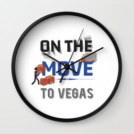 On the Move to Vegas Moving State & House Gift Wall Clock