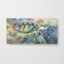 Colorful Seaturtle Art Metal Print