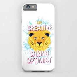 Leo Zodiac Horoscope Lion Spirit Animal iPhone Case