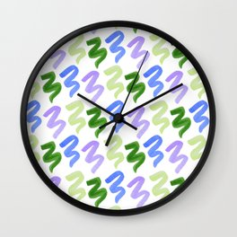 Squiggles - Key Lime Wall Clock
