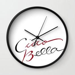 Ciao, Bella Wall Clock