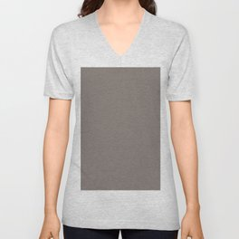 Minimalist  pastel grey braun art. Colorblock. solid decor. Unisex V-Neck