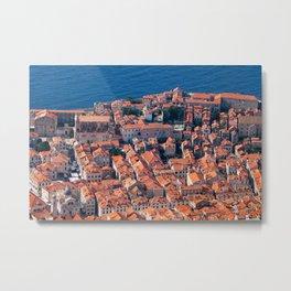 Dubrovnik Houses Aerial View Metal Print