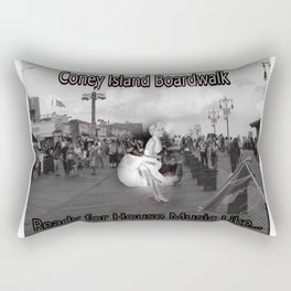 Ready to Dance on the Boardwalk of Coney Island House Music Rectangular Pillow