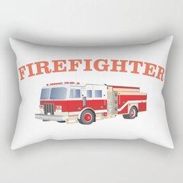 Firefighter Fire Truck Rectangular Pillow